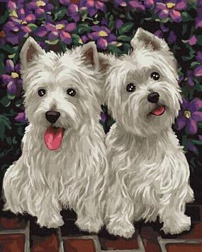 Картины по номерам 40х50 см Brushme Веселые собачки (GX 25007)