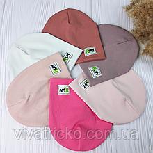 """М 93559. Шапка подвійна для дівчинки """"RUN"""" Vivatricko, 2-10 років, різні кольори"""
