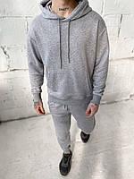 Мужской спортивный костюм c капюшоном серый, фото 1