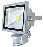 Светодиодный уличный прожектор с датчиком движения (led прожектор с датчиком движения) 10w 6400K 800LM,Watc