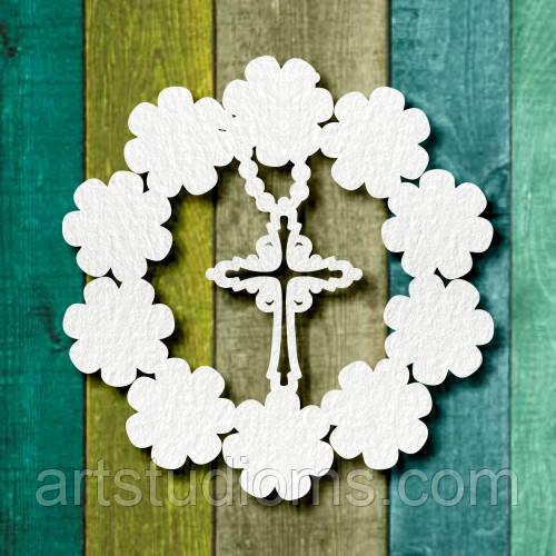 Чипборд фішка квітка хрестик