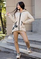 Модная куртка - парка от производителя с нашивками 44-54 размер, фото 1