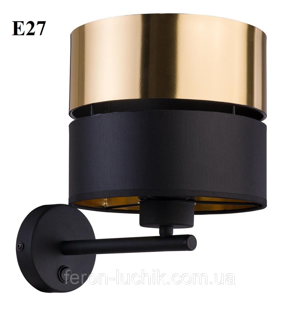 Светильник настенный Е27 на 1 лампу 4344 (бра) черный