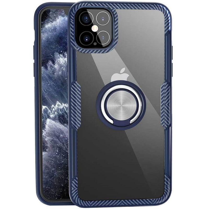Чехол Deen CrystalRing Apple iPhone 12 Pro Max Clear/Dark Blue