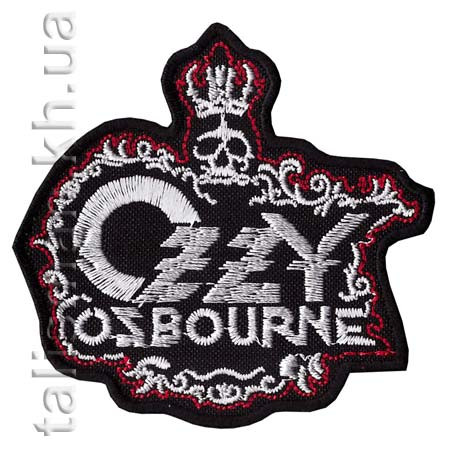 Нашивка с вышивкой OZZY OSBOURNE-2 корона