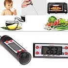 ОПТ Харчової кухонний цифровий термометр електронний у вигляді щупа чорний, фото 4