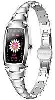 Женские умные часы Smart SUPERMiss Silver Pro с тонометром, пульсометром и сенсорным экраном
