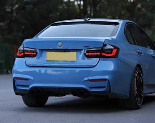 Фонари BMW F30 (13-18) тюнинг OLed оптика (черные)