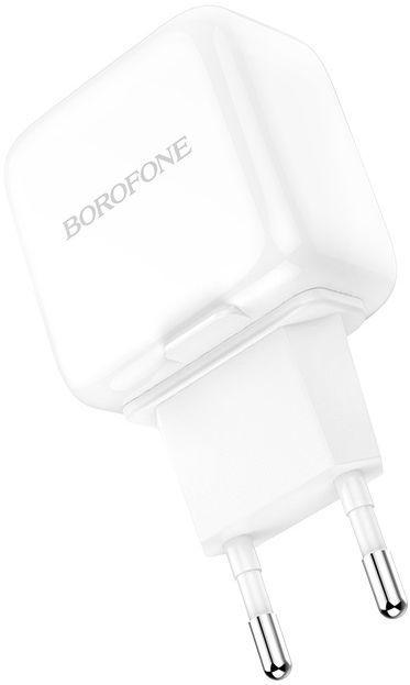 Мережевий зарядний пристрій Borofone BA18 Vigorous 2USB White
