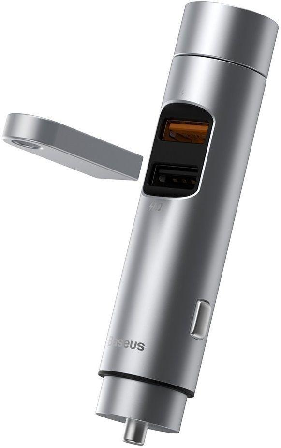 Автомобильный FM модулятор + зарядное устройство с поддержкой Quick Charge 3.0 Baseus Energy Column Car