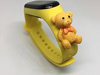 Фитнес браслет mi band 4 mi band 3 ремешок с мишкой Тедди желтый