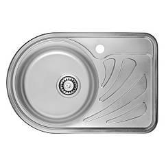 Кухонная мойка ULA 7111 ZS Micro Decor 08 (L) (мойка 6744 нержавейка)