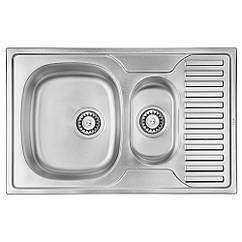 Кухонная мойка ULA 7301 ZS Micro Decor 08 (мойка 7850 нержавейка) двойная