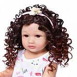 Силіконова колекційна Лялька Реборн Reborn дівчинка Діна Вінілова Лялька Висота 55 См (228), фото 2