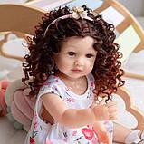 Силіконова колекційна Лялька Реборн Reborn дівчинка Діна Вінілова Лялька Висота 55 См (228), фото 4
