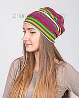 Зимняя шапка в полоску