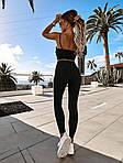 Женский спортивный костюм, микродайвинг, р-р 42-44; 44-46 (чёрный), фото 7