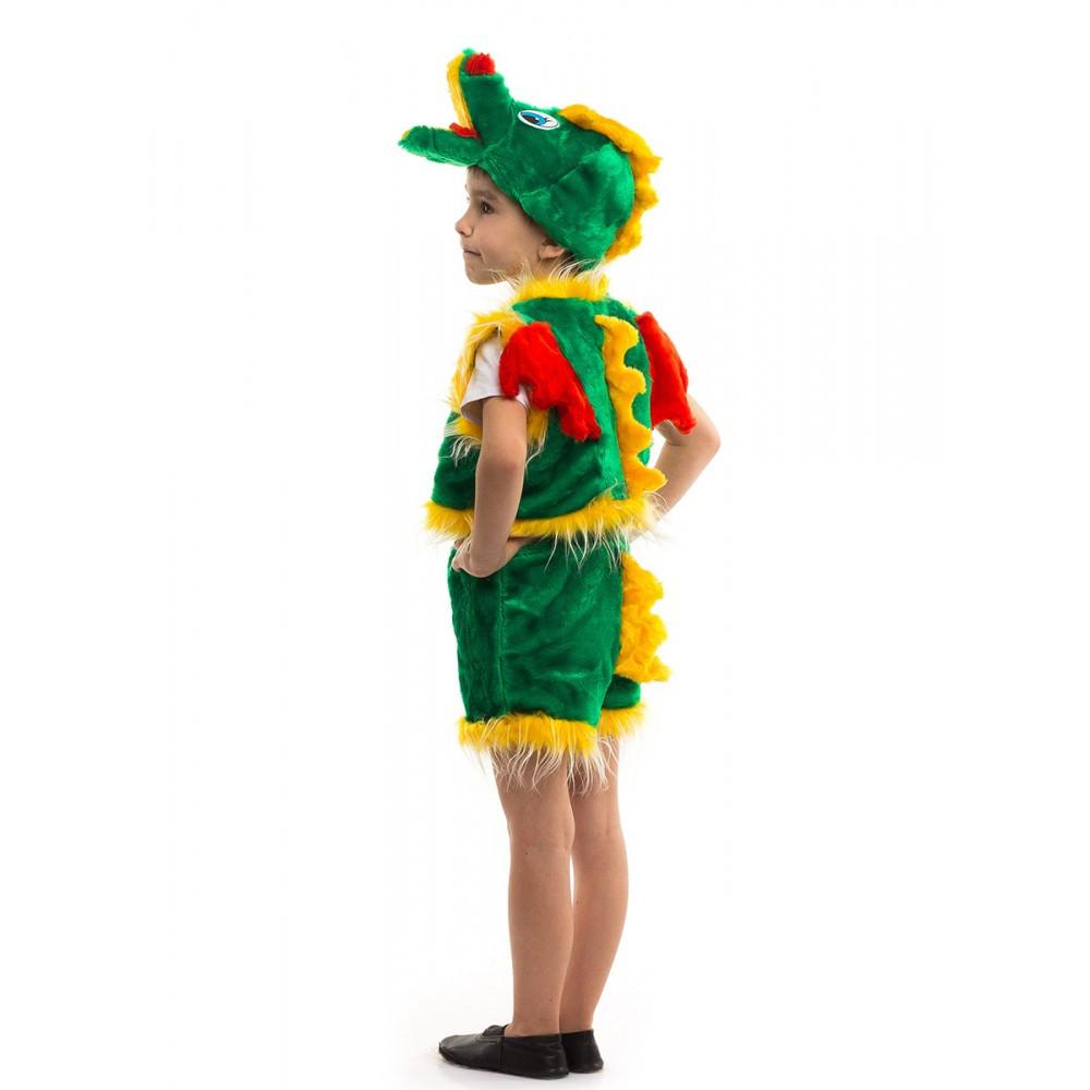 Карнавальный костюм ДРАКОН, ДРАКОША для детей 3-6 лет, 98-116 см, детский маскарадный костюм Дракончик