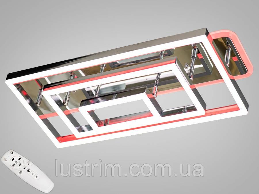 Світлодіодна LED люстра з діммером і підсвічуванням 145W