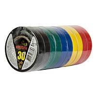 Изоляционная лента 30 м ассортимент цветов ПВХ Orbita