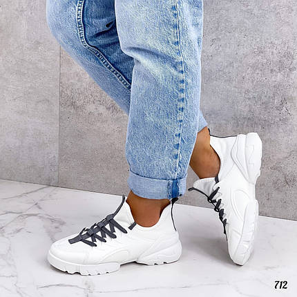 Весняні білі кросівки жіночі, фото 2