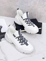Весняні білі кросівки жіночі, фото 3