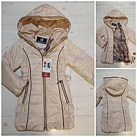 """Куртка дитяча демісезонна стьобаний на дівчинку 116-122 см """"MALIBU"""" купити недорого від прямого постачальника"""
