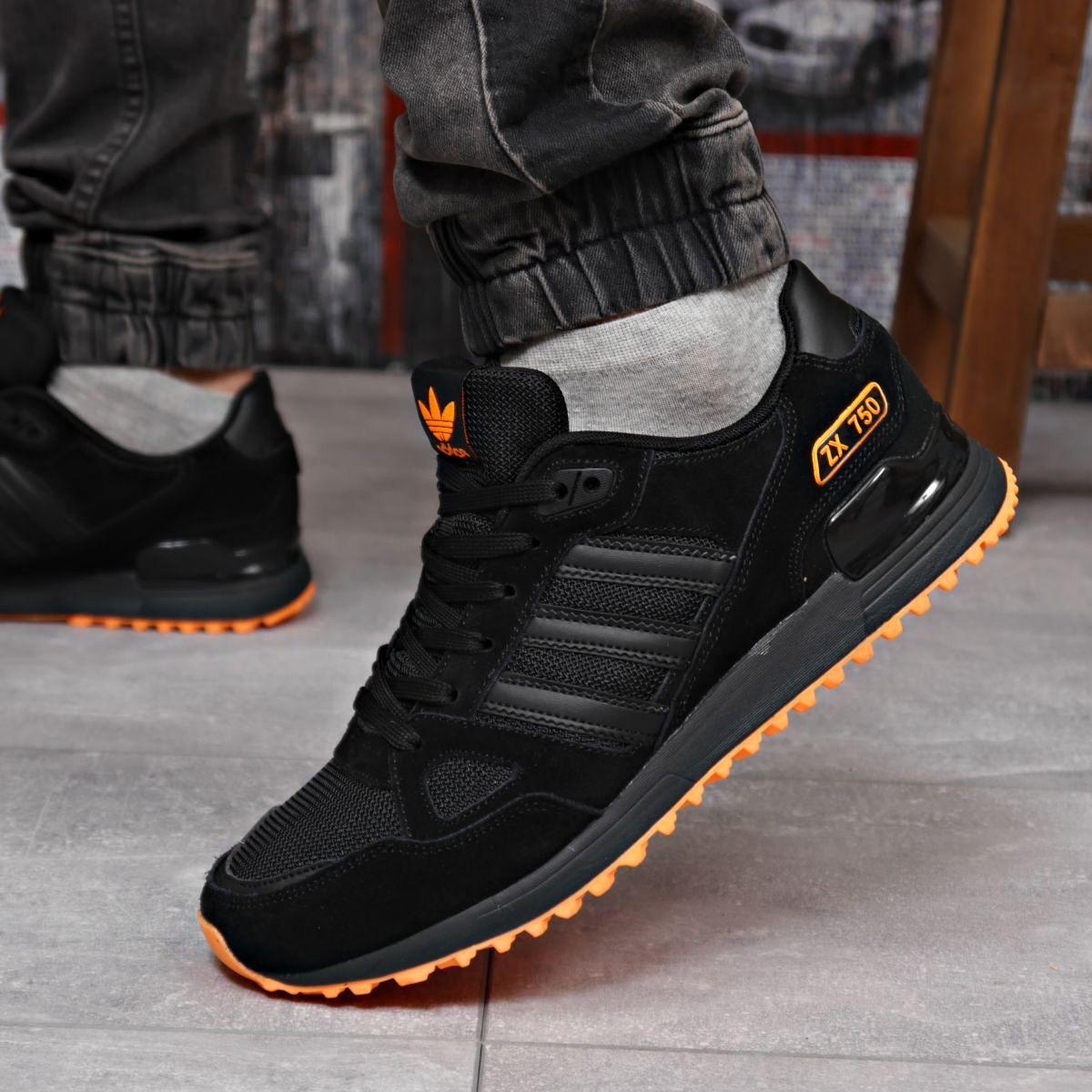 Кроссовки мужские 18163 ► Adidas ZX 750, черные . [Размеры в наличии: 41,43,44,45,46]