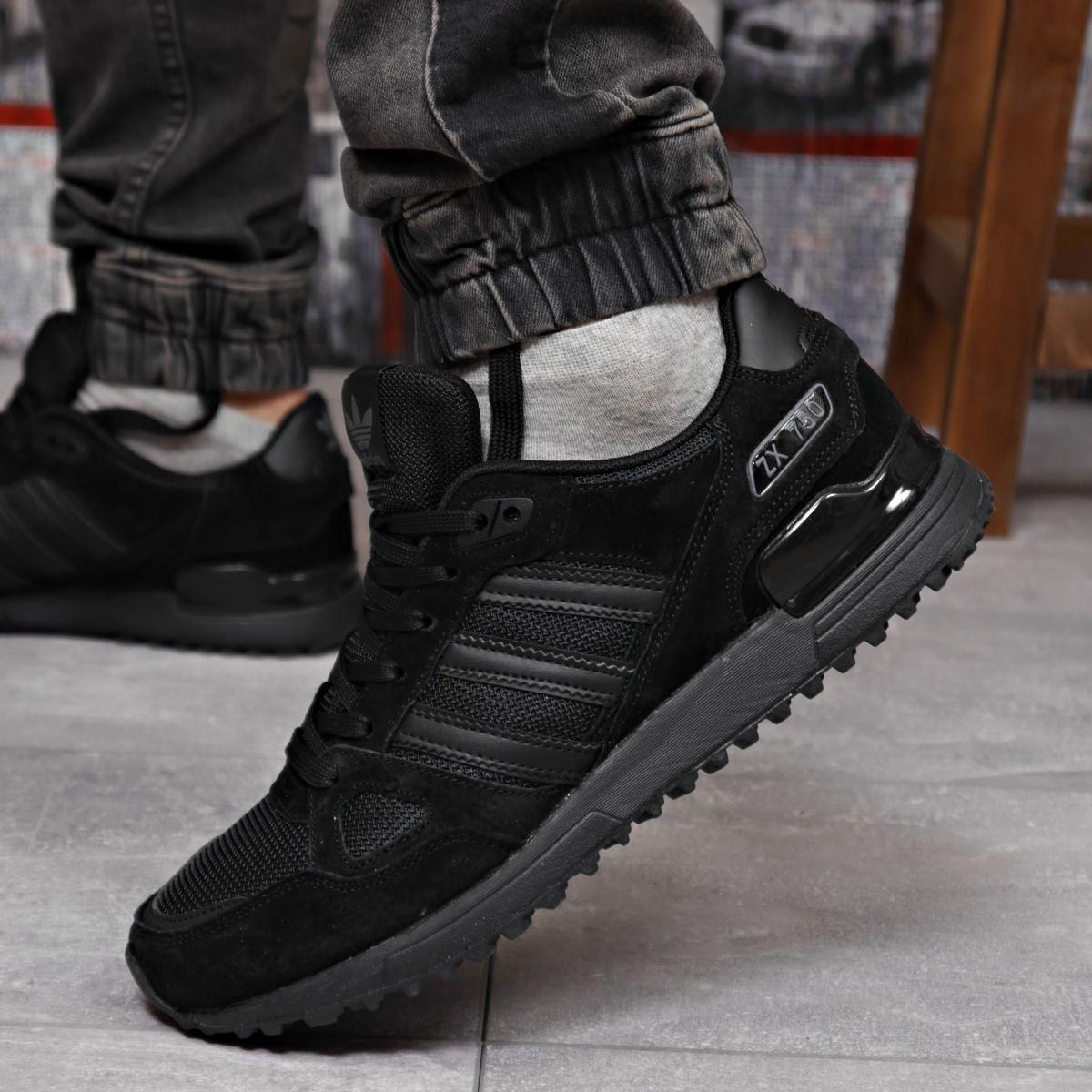 Кроссовки мужские 18164 ► Adidas ZX 750, черные . [Размеры в наличии: 43,44,45,46]