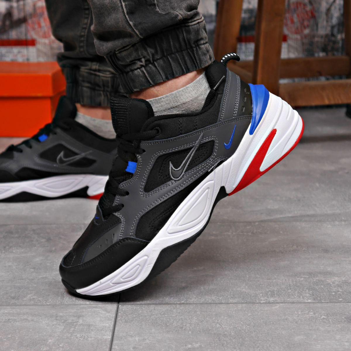 Кроссовки мужские 18202 ► Nike M2K Tekno, черные  (качество AAA). [Размеры в наличии: 41,42,43,44,45,46]