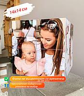 Фотокубик на 12 фото 14х14см оригинальный подарок девушке, подруге, парню, жене, мужу, родителям, на