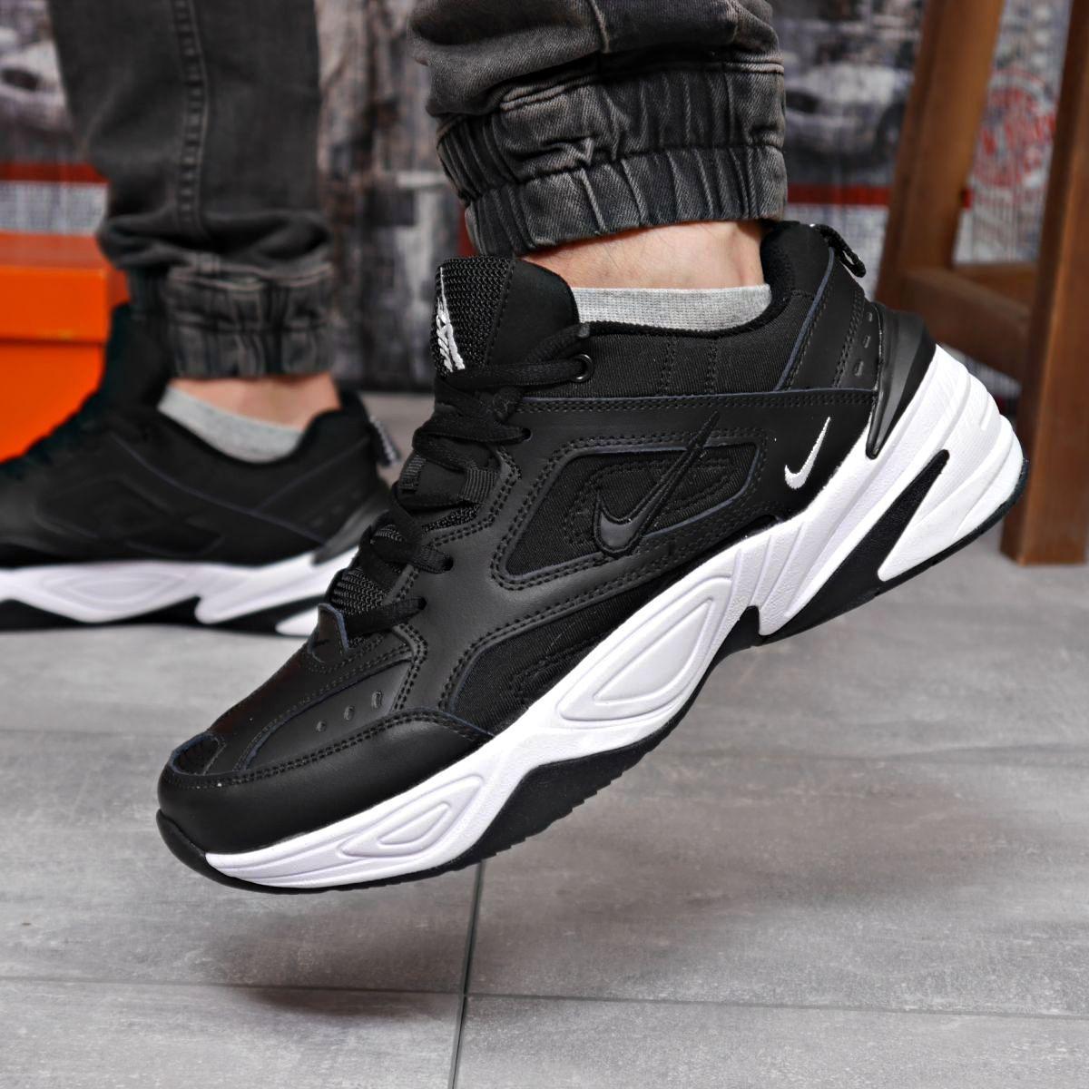 Кроссовки мужские 18203 ► Nike M2K Tekno, черные  (качество AAA). [Размеры в наличии: 44]
