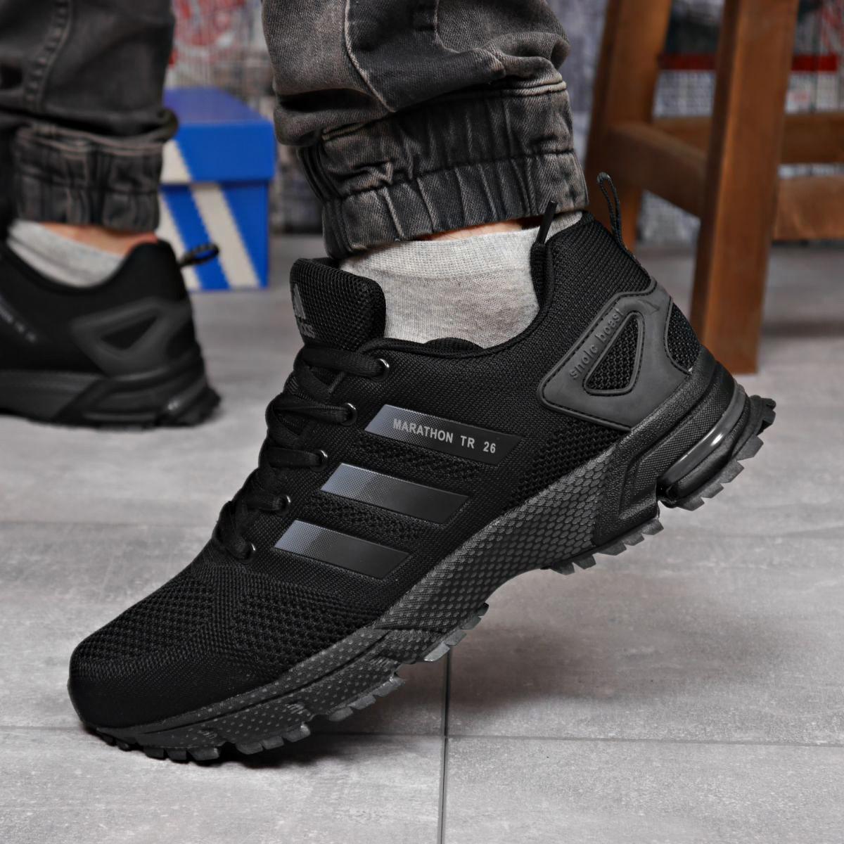 Кроссовки мужские 18224 ► Adidas Marathon Tr 26, черные . [Размеры в наличии: 44]
