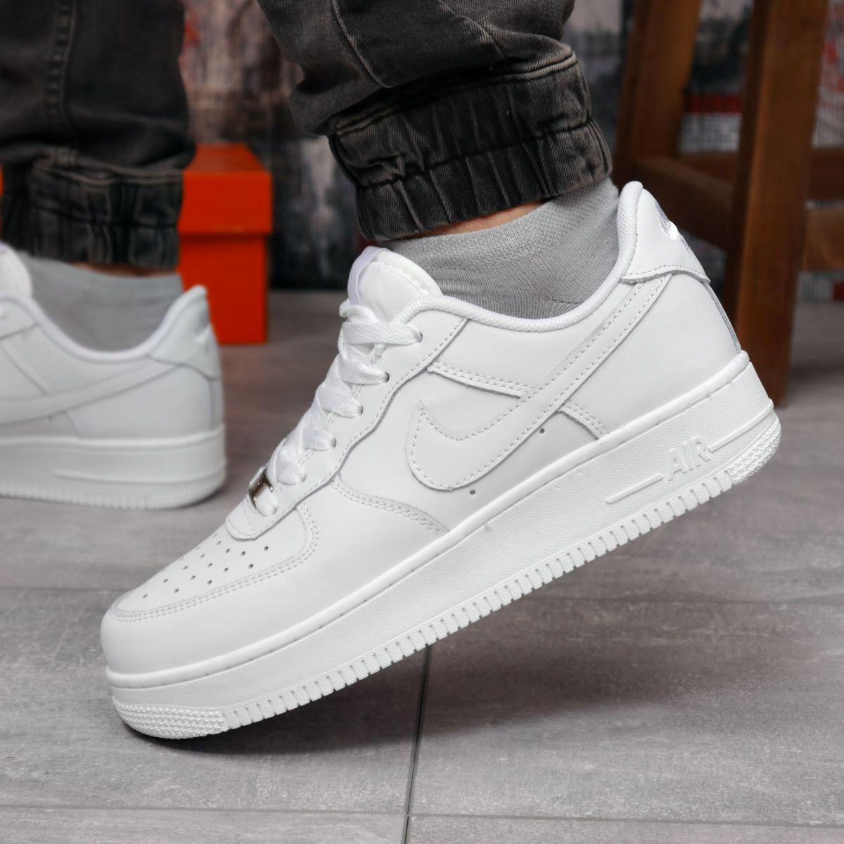 Кроссовки мужские 18231 ► Nike Air Force 1 (качество AAA), белые . [Размеры в наличии: 42,43,44,45,46]