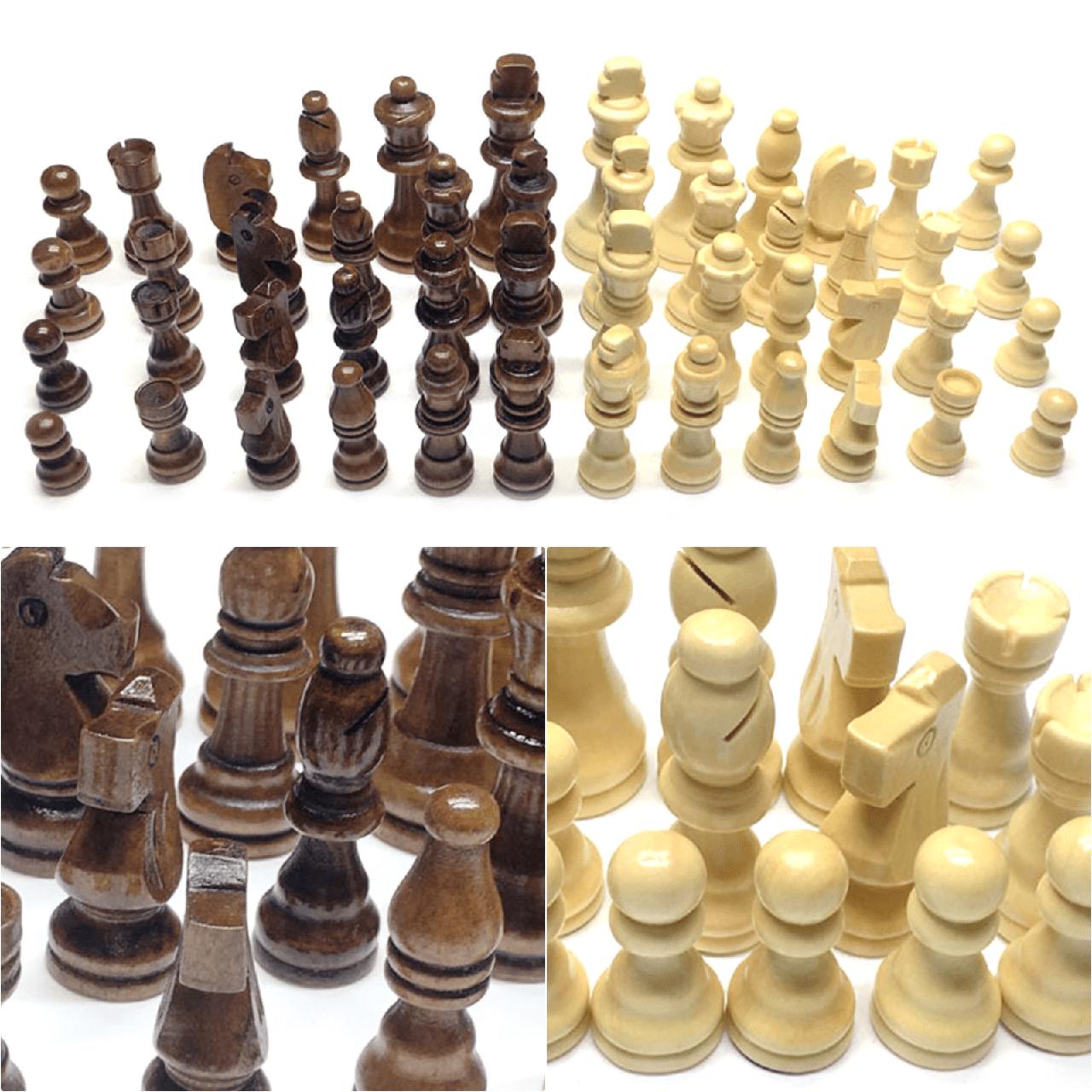 Фигурки для шахмат комплект шахматных фигур. Король 7,8 см. Материал - дерево 9.5