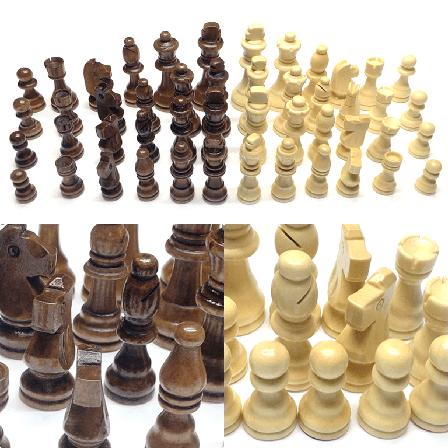 Фигурки для шахмат комплект шахматных фигур. Король 7,8 см. Материал - дерево 9.5, фото 2