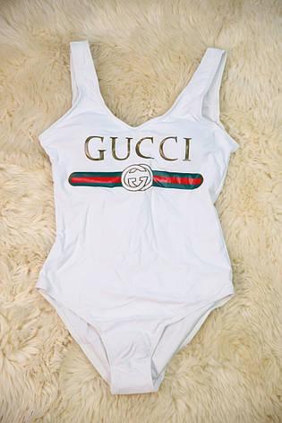 Купальник відрядний білий репліка Gucci, фото 2
