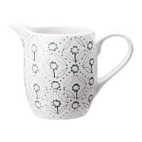 """IKEA """"ЭНИГТ"""" Графин для молока, кремовый, зеленый"""