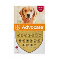 Капли от блох, отодектоза, саркоптоза Bayer Advocate для собак 10-25 кг, цена за 1 пипетку