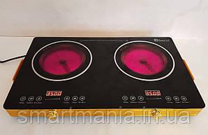 Інфрачервона плита Domotec MS-5881 (дві конфорки по 3500 Вт)