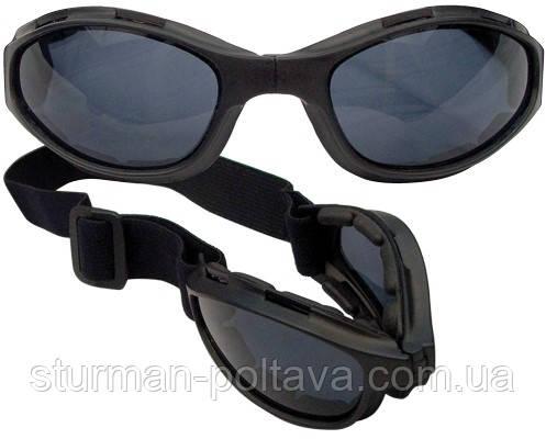 Тактичні окуляри складаються COLLAPSIBLE TACTICAL GOGGLES - BLACK