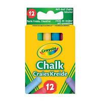 Набор для творчества Crayola 12 цветных мелков с пониженным выделением пыли (281)