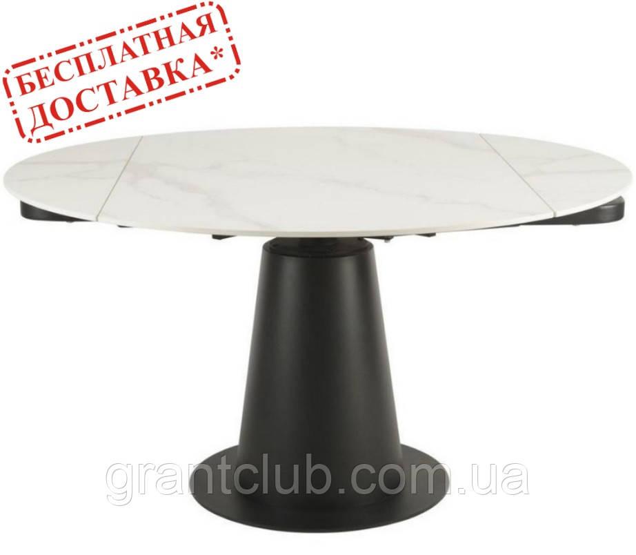 Стол TML-831 керамика Бьянко перлино 85/133 см (бесплатная доставка)