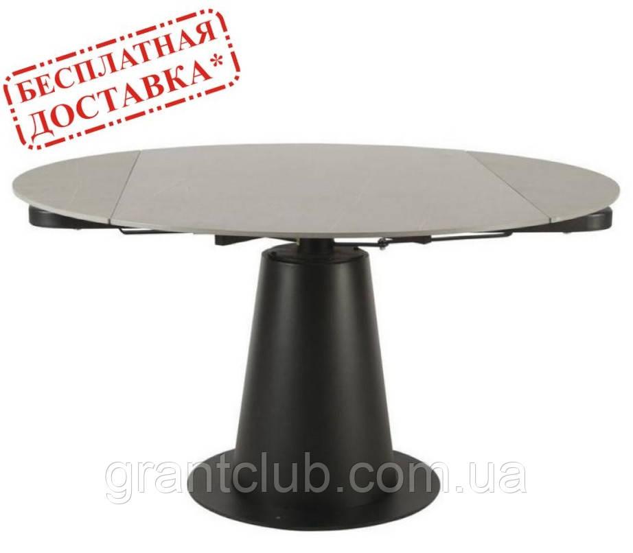 Стол TML-831 керамика Грей стоун 85/133 см (бесплатная доставка)