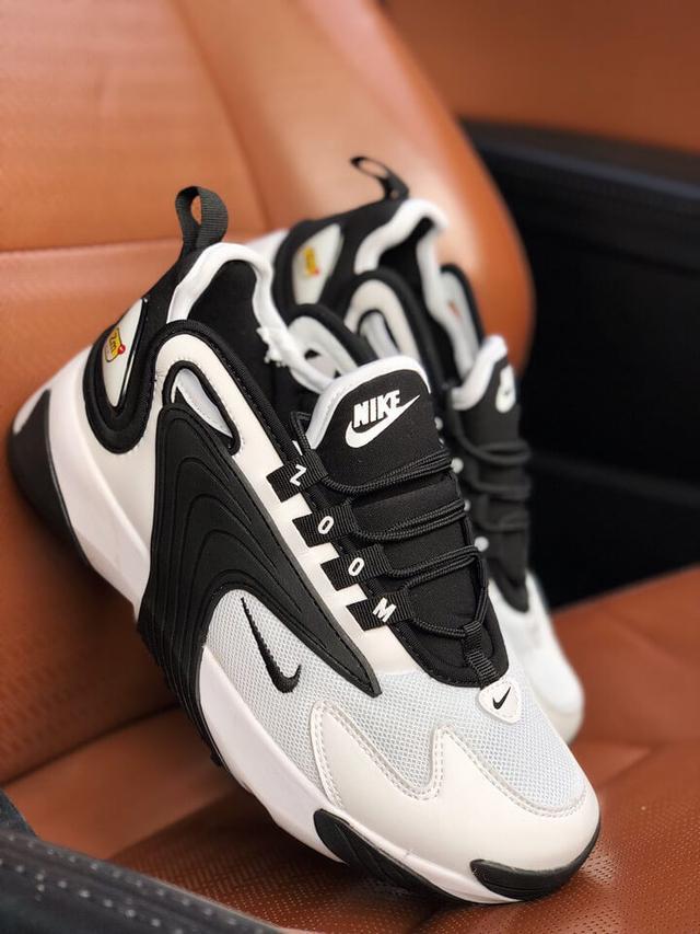 Женские кроссовки Nike Zoom 2k в стиле найк зум белые черные (Реплика ААА+)