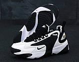 Женские кроссовки Nike Zoom 2k в стиле найк зум белые черные (Реплика ААА+), фото 3
