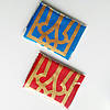 Прапор України і прапор ОУН-УПА з гербом ,  набір з двох прапорів , габардин ,  110×70 см.