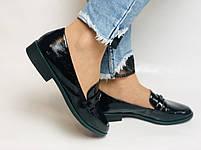 Molka. Жіночі туфлі-лофери. Чорні з натуральної лакованої шкіри. Розмір 36,37,38,39,40,41, фото 2