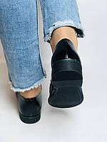 Molka. Жіночі туфлі-лофери. Чорні з натуральної лакованої шкіри. Розмір 36,37,38,39,40,41, фото 8
