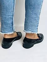 Molka. Жіночі туфлі-лофери. Чорні з натуральної лакованої шкіри. Розмір 36,37,38,39,40,41, фото 5